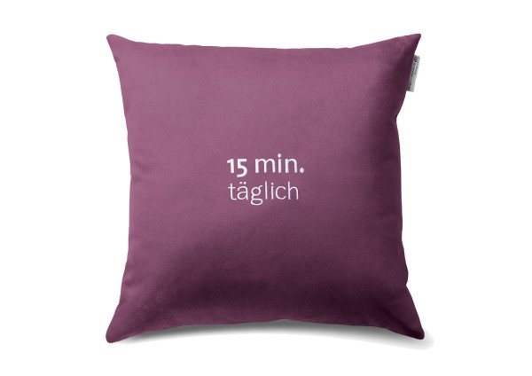 """Typo-Design-Kissen """"15 min. täglich"""""""