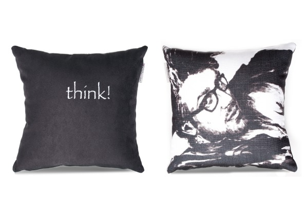 "Typo-Design-Kissen ""think"" im doubleface Look"