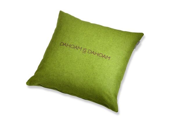 """Typo-Design-Lodenkissen """"Dahoam is Dahoam"""""""