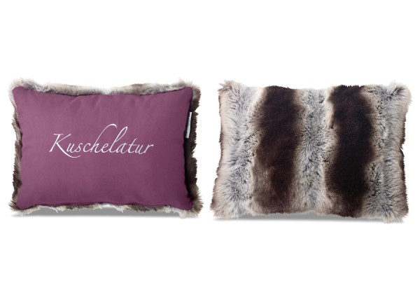 """Typo-Design-Kissen """"Kuschelatur"""" im doubleface Look"""