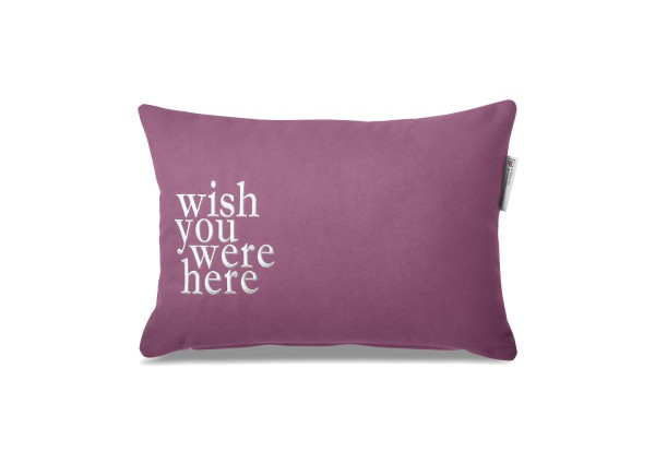 "Typo-Design-Kissen ""wish you were here"""
