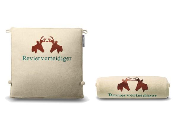 """Typo-Design-Sitzkissen """"Revierverteidiger"""""""