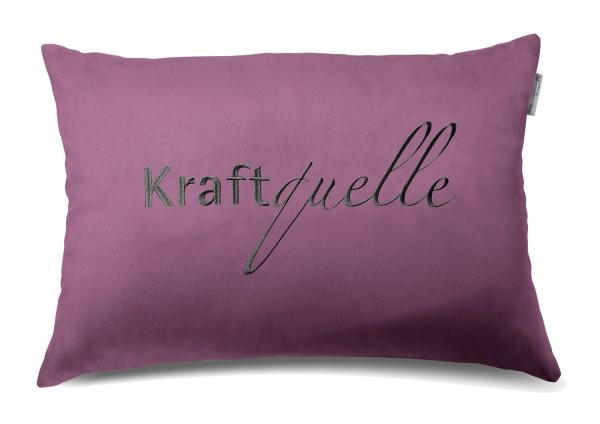 """Typo-Design-Kissen """"Kraftquelle"""""""