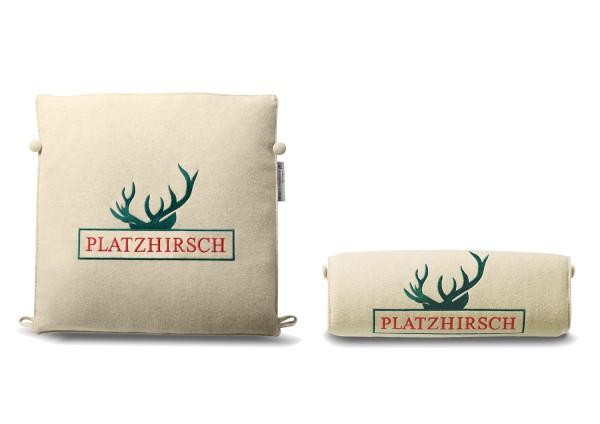 """Typo-Design-Sitzkissen """"Platzhirsch"""""""
