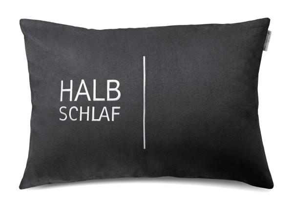 "Typo-Design-Kissen ""Halbschlaf"""